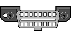 図3 - J1962車両用コネクタ、タイプA